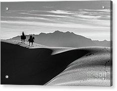 Horseback At White Sands Acrylic Print