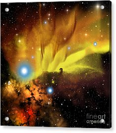 Horsehead Nebula Acrylic Print by Corey Ford