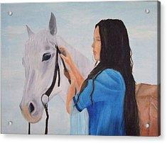 Horselady Acrylic Print by Robert Silvera