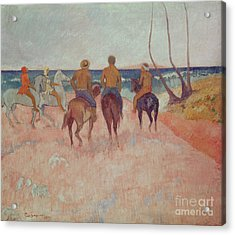 Horseman On The Beach Acrylic Print by Paul Gauguin
