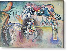 Horseman. St. George Acrylic Print by Wassily Kandinsky