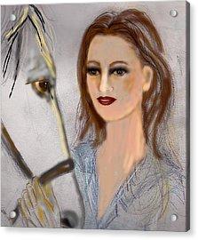 Horse'n Around Acrylic Print by Desline Vitto