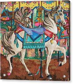 Horses #9 Acrylic Print by David Palmer