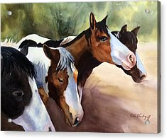 Horses At The Ranch Acrylic Print