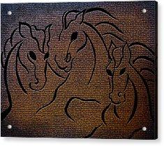 Horses Of Fire Acrylic Print