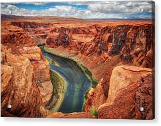 Acrylic Print featuring the photograph Horseshoe Bend Arizona - Colorado River #2 by Jennifer Rondinelli Reilly - Fine Art Photography