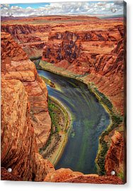 Acrylic Print featuring the photograph Horseshoe Bend Arizona - Colorado River #3 by Jennifer Rondinelli Reilly - Fine Art Photography