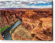 Acrylic Print featuring the photograph Horseshoe Bend Arizona - Colorado River $4 by Jennifer Rondinelli Reilly - Fine Art Photography