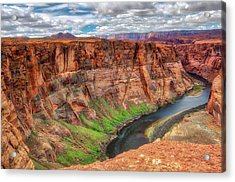 Acrylic Print featuring the photograph Horseshoe Bend Arizona - Colorado River #5 by Jennifer Rondinelli Reilly - Fine Art Photography