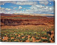 Acrylic Print featuring the photograph Horseshoe Bend  - Arizona by Jennifer Rondinelli Reilly - Fine Art Photography