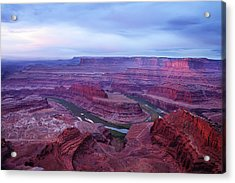 Acrylic Print featuring the photograph Horseshoe Bend At Dawn by Marie Leslie