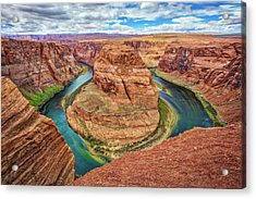 Acrylic Print featuring the photograph Horseshoe Bend - Colorado River - Arizona by Jennifer Rondinelli Reilly - Fine Art Photography