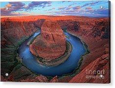 Horseshoe Bend Sunrise Acrylic Print by Inge Johnsson