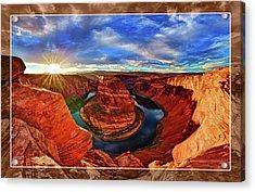 Acrylic Print featuring the photograph Horseshoe Bend Sunset by ABeautifulSky Photography