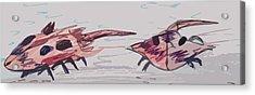 Horseshoe Crabs Acrylic Print by Andrew Blitman