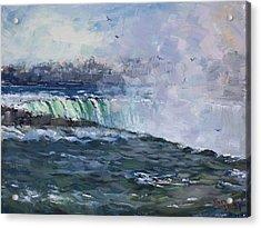 Horseshoe Falls Acrylic Print by Ylli Haruni