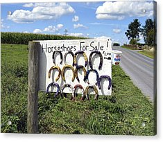 Horseshoes For Sale Acrylic Print