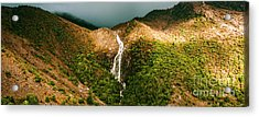 Horsetail Falls In Queenstown Tasmania Acrylic Print