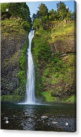 Horsetail Falls In Spring Acrylic Print by Greg Nyquist