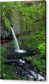 Horsetail Falls Waterfall Art By Kaylyn Franks Acrylic Print
