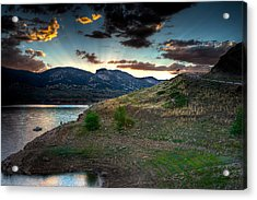 Horsetooth Reservior At Sunset Acrylic Print by James O Thompson