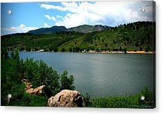 Horsetooth Reservoir Summer Acrylic Print by Aaron Burrows