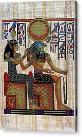 Horus And Hathor Acrylic Print by Bernice Williams