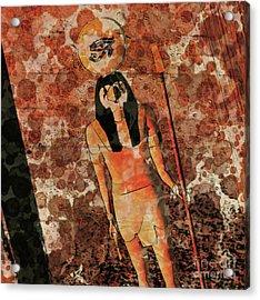 Horus, Egyptian God By Raphael Terra And Mary Bassett Acrylic Print