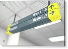 Hospital Directional Sign Neurology Acrylic Print