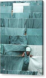 Hospital Laundry Acrylic Print by Mauro Fermariello