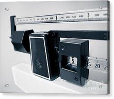 Hospital Medical Sliding Weight Beam Scale Acrylic Print