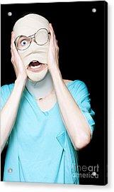 Hospital Trauma Patient Screaming In Terror Acrylic Print by Jorgo Photography - Wall Art Gallery