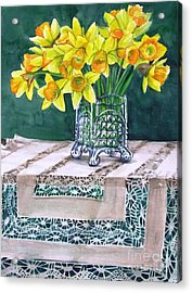 Host Of Daffodils Acrylic Print