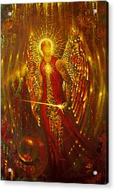 Host Of Holies With One Swing Concludes Acrylic Print by Stephen Lucas