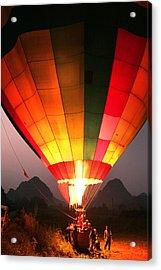 Hot Air Ballon At Dawn Acrylic Print