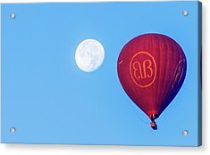 Hot Air Balloon And Moon Acrylic Print