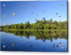 Quechee Balloon Fest Reflections Acrylic Print