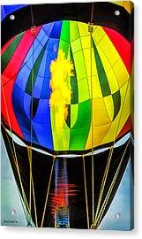Hot Air Balloon Flame Acrylic Print by LeeAnn McLaneGoetz McLaneGoetzStudioLLCcom