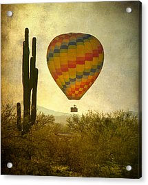 Hot Air Balloon Flight Over The Southwest Desert Acrylic Print by James BO  Insogna