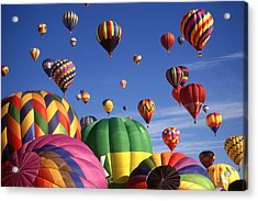 Beautiful Balloons On Blue Sky Acrylic Print
