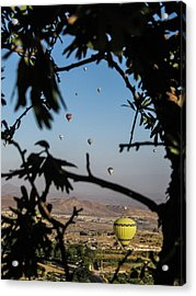 Hot Air Balloons In Cappadocia, Turkey Acrylic Print