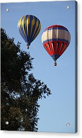 Hot Air Balloons Over Dansville Ny Acrylic Print