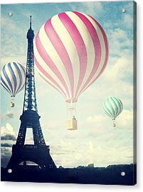 Hot Air Balloons In Paris Acrylic Print