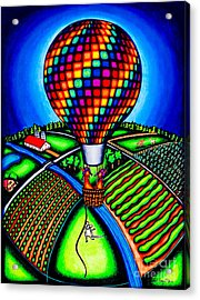 Hot Air Kats Acrylic Print by Laurie Tietjen