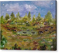 Acrylic Print featuring the painting Hot August Afternoon by Judith Rhue