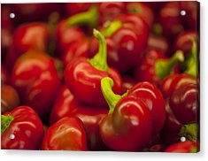 Hot Cherry Peppers Acrylic Print