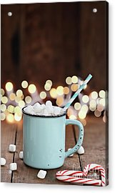 Acrylic Print featuring the photograph Hot Cocoa With Mini Marshmallows by Stephanie Frey