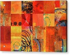Hot Color Play Acrylic Print by Nancy Merkle