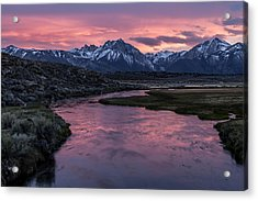 Hot Creek Sunset Acrylic Print
