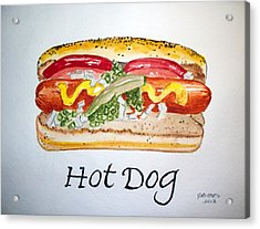 Hot Dog Acrylic Print
